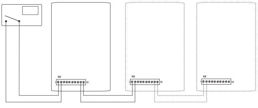 Каскадное подключение котлов Протерм Скат