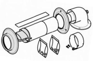 Комплект телескопического дымохода для котла Протерм Рысь К